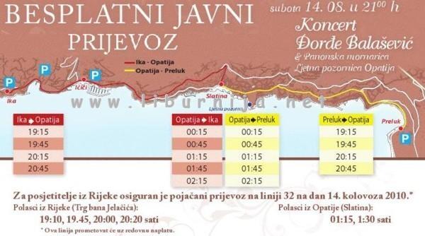 Liburnija.net: Raspored vožnji City buseva @ Opatija