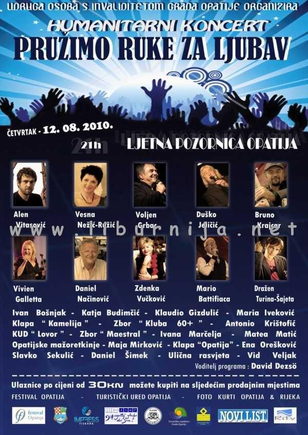 Liburnija.net: Humanitarni koncert 'Pružimo ruke za ljubav' @ Opatija
