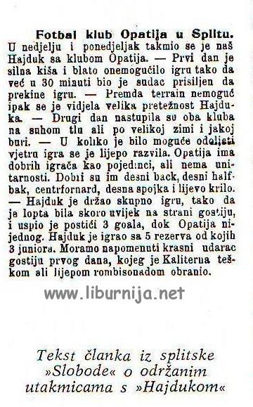 Liburnija.net: Komadić opatijske sportske povijesti...