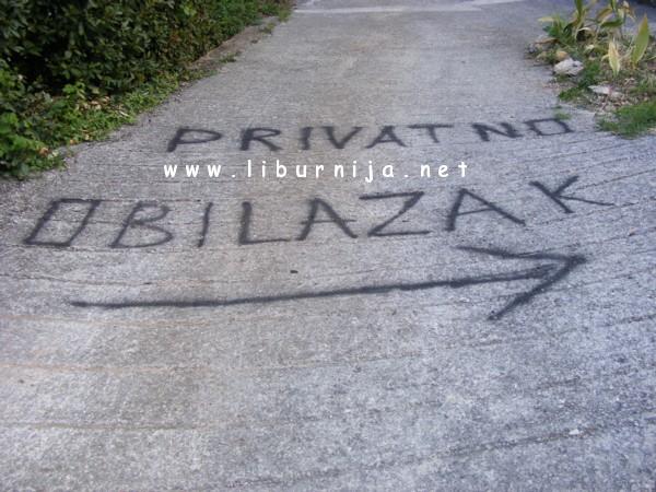 Liburnija.net: Poruka za pješake @ Pobri