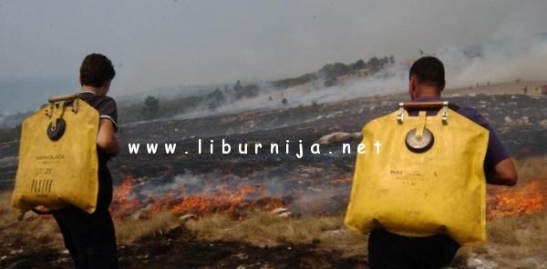 Liburnija.net: Vatrogasci na terenu...