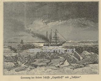 Ilustracija plovidbe jedrenjaka Admiral Tegetthoff...
