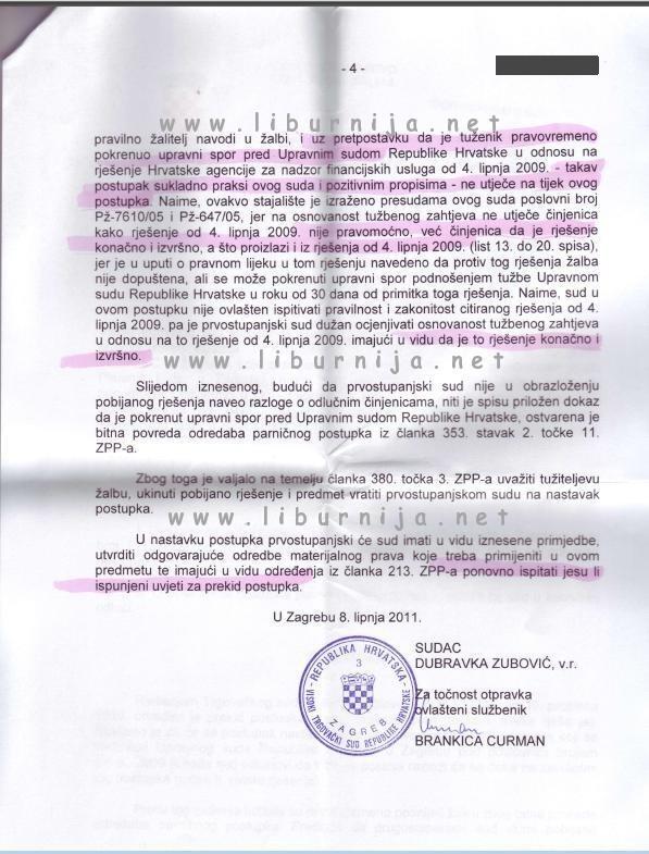Liburnija.net: Scan presude Visokog trgovačkog suda...