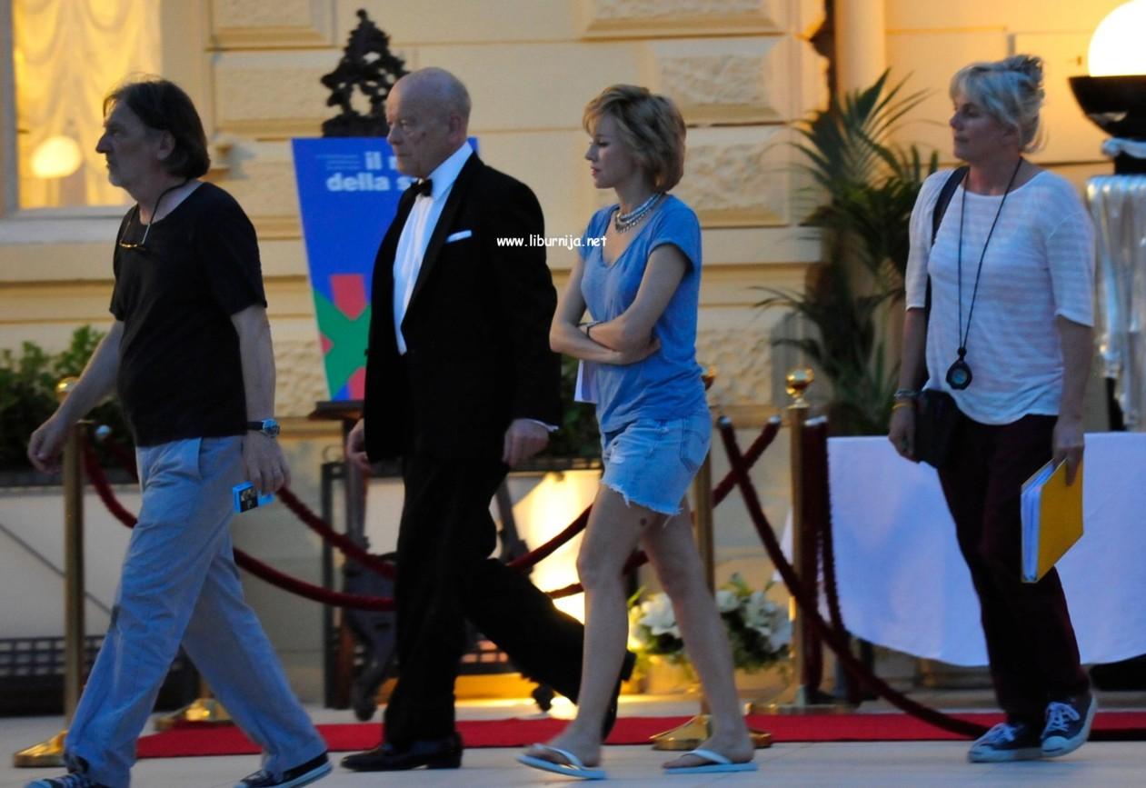 Liburnija.net: Naomi Watts na terasi hotela Kvarner @ Opatija