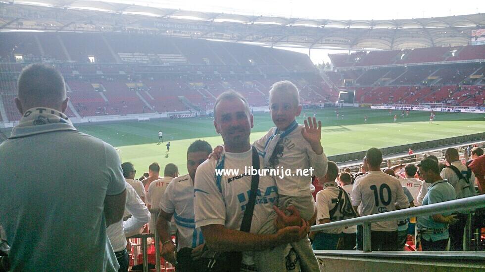 Mauro, vjerojatno najmlađi navijač Rijeke na današnjoj utakmici u Stuttgartu!