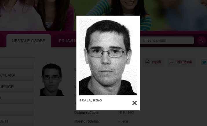 Nestali.hr - Rino Brala