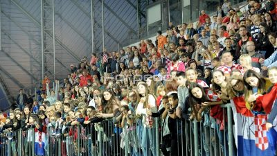 Hrvatska nogometna reprezentacija odradila otvoreni trening ususret utakmici protiv Engleske @ Rujevica