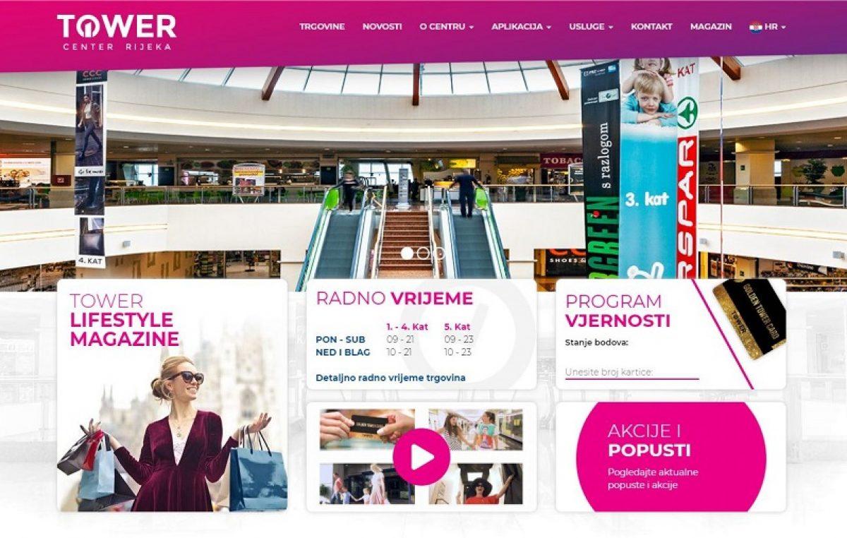 Novo 'digitalno ruho' trgovačkog centra: Tower Centar Rijeka predstavio redizajniranu web stranicu