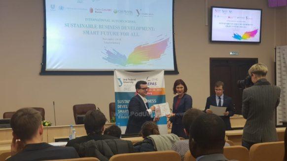 August Marčan u pobjedničkom timu jesenske škole u Rusiji