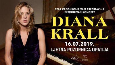 Jedna od najboljih svjetskih jazz pijanistica i pjevačica Diana Krall dolazi u Opatiju