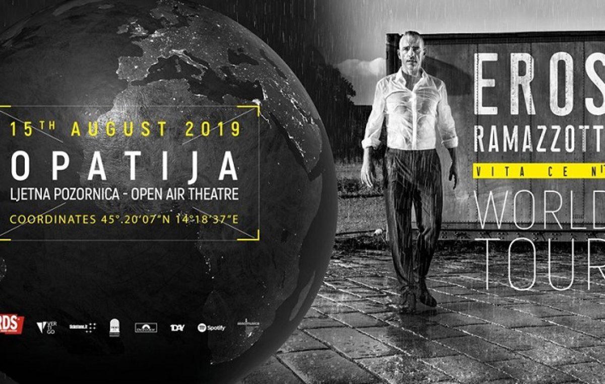 Eros Ramazzotti u Opatiji – U petak počinje prodaja ulaznica