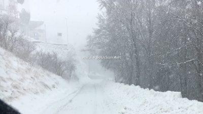 U OKU KAMERE U višim predjelima snijeg ponovo pada @ Učka