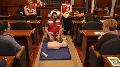 U Gradu Opatiji održana obuka za uporabu defibrilatora