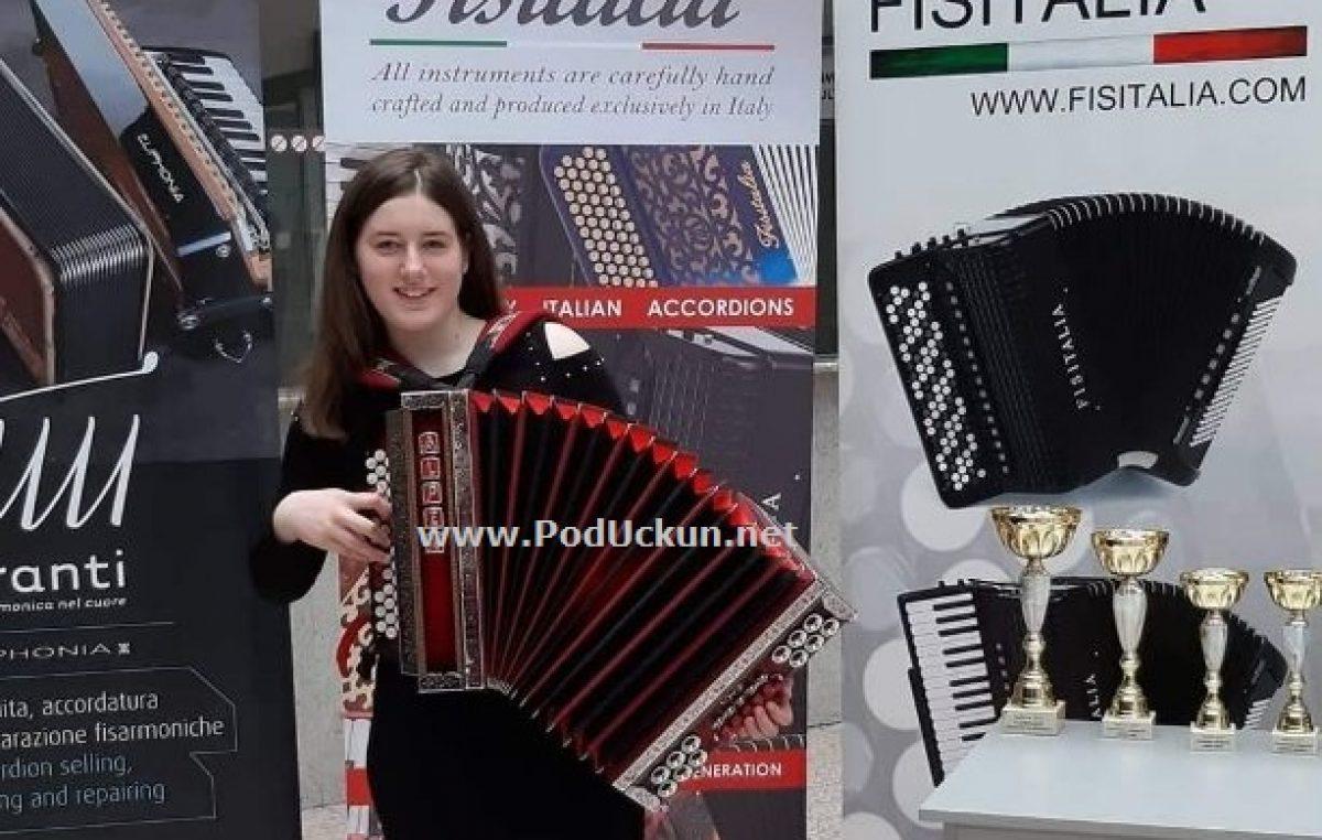 AUDIO Ema Sušanj osvojila zlatnu medalju na međunarodnom festivalu harmonike u Beogradu