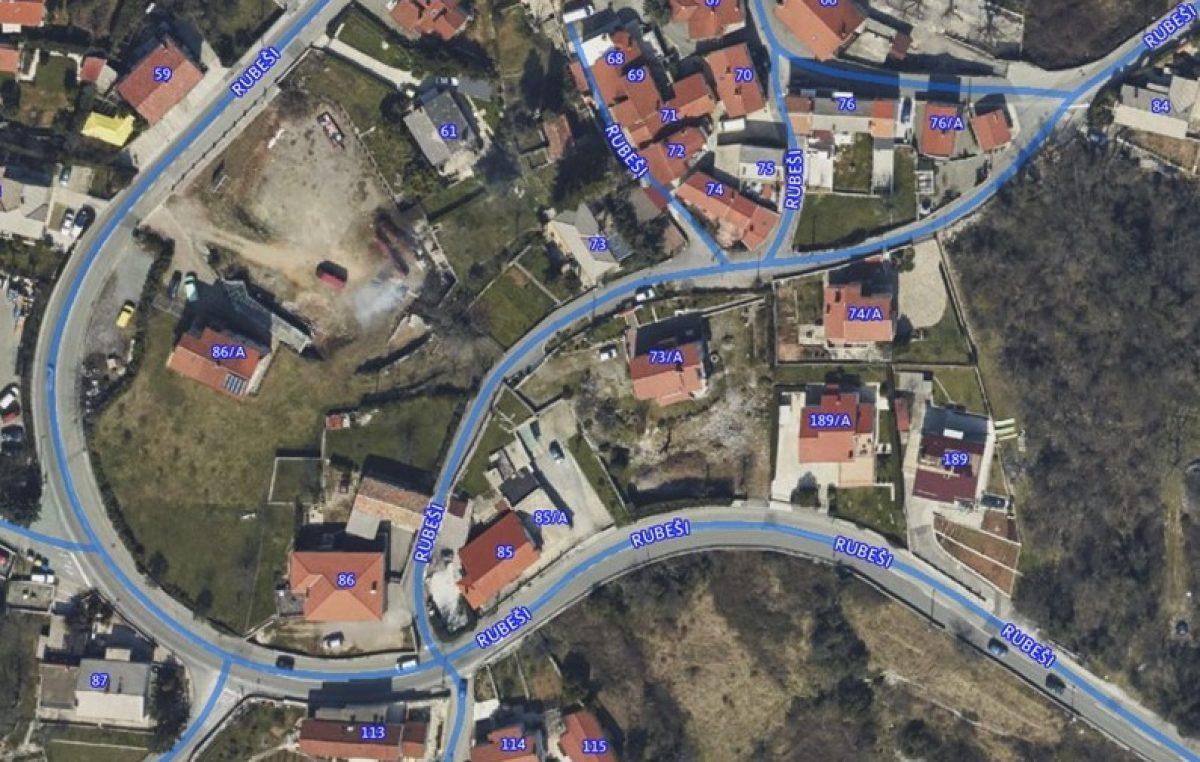 Sutra se zatvara cesta kod kućnog broja 85/A i 86 u ulici Rubeši
