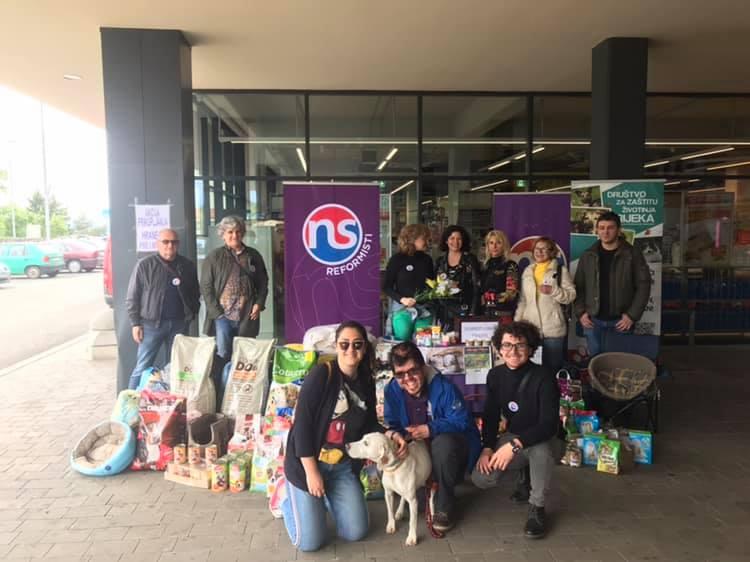 Uspješna akcija Reformista: Za nezbrinute pse i mačke prikupljeno 500 kilograma hrane i 1.200 kuna