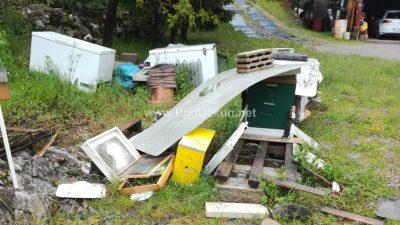 FOTO/VIDEO Medo u svom pohodu razbio pčelinjak u Permanima, sinoćnji posjet Šapjanama ostao samo na pokušaju