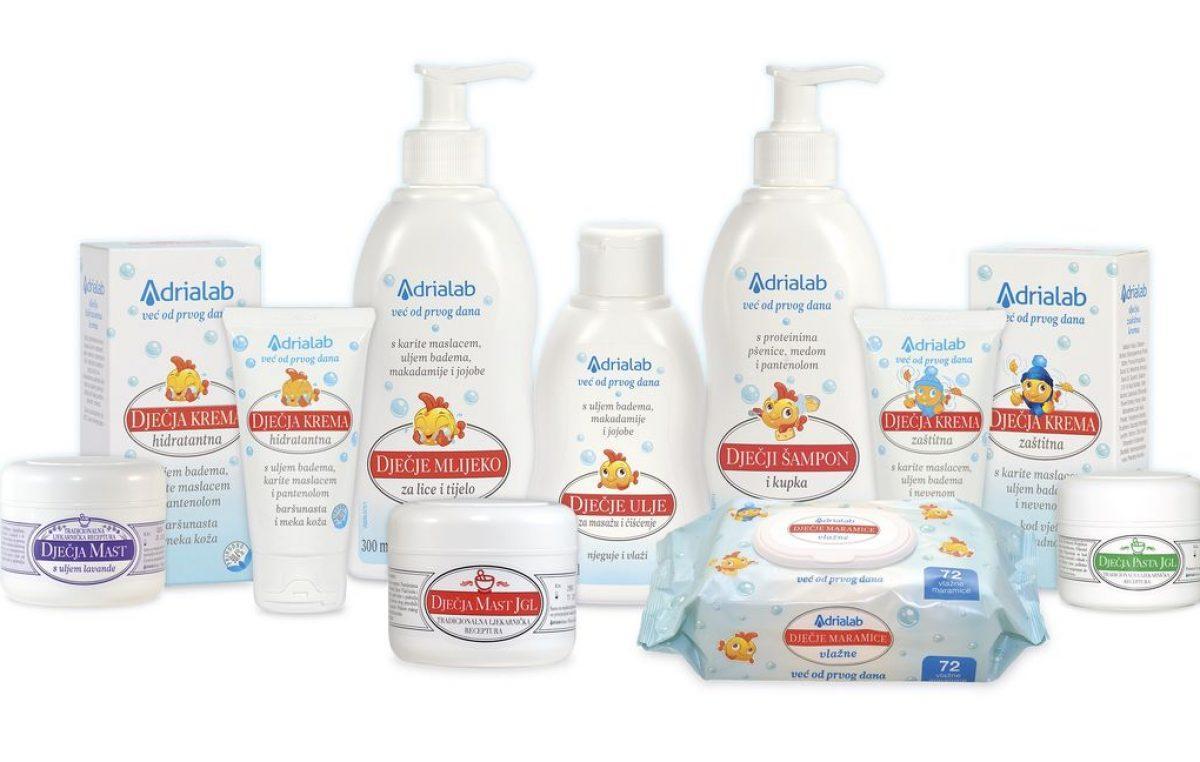 Adrialab Dječja kozmetika sve je što vam treba za očuvanje kože vaših mališana