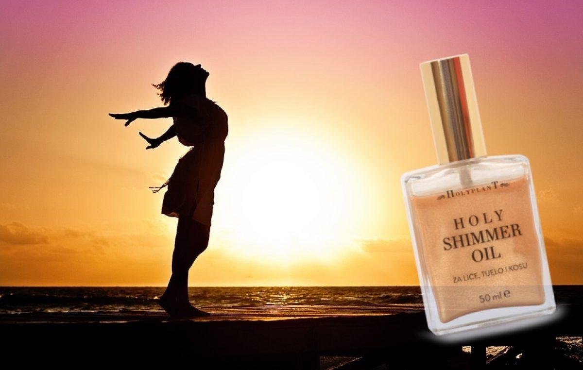 Sjajno ulje za blistavo ljeto: Holyplant Shimmer oil dubinski hrani kožu nakon izlaganja suncu