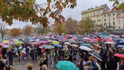U OKU KAMERE Kod Konta održan mirni prosvjed – Tražimo pravdu za djevojčice, ali i svih nas @ Rijeka