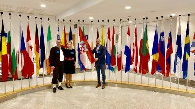 Predstavnici Općine Kršan povodom obljetnice upisa prvih lokaliteta RH na popis Svjetske kulturne baštine gostovali u Bruxellesu