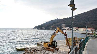 Polovicom rujna nastavljaju se radovi na proširenju porta u Mošćeničkoj Dragi