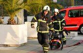 FOTO/VIDEO Održana vježba evakuacije – Požar u fitnes centru ispraznio sportsku dvoranu @ Opatija