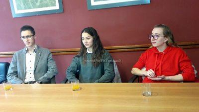 Načelnik Ćiković održao prijem za Klaru Kosanović, Nicole Milić i Daniela Ivaničića @ Matulji
