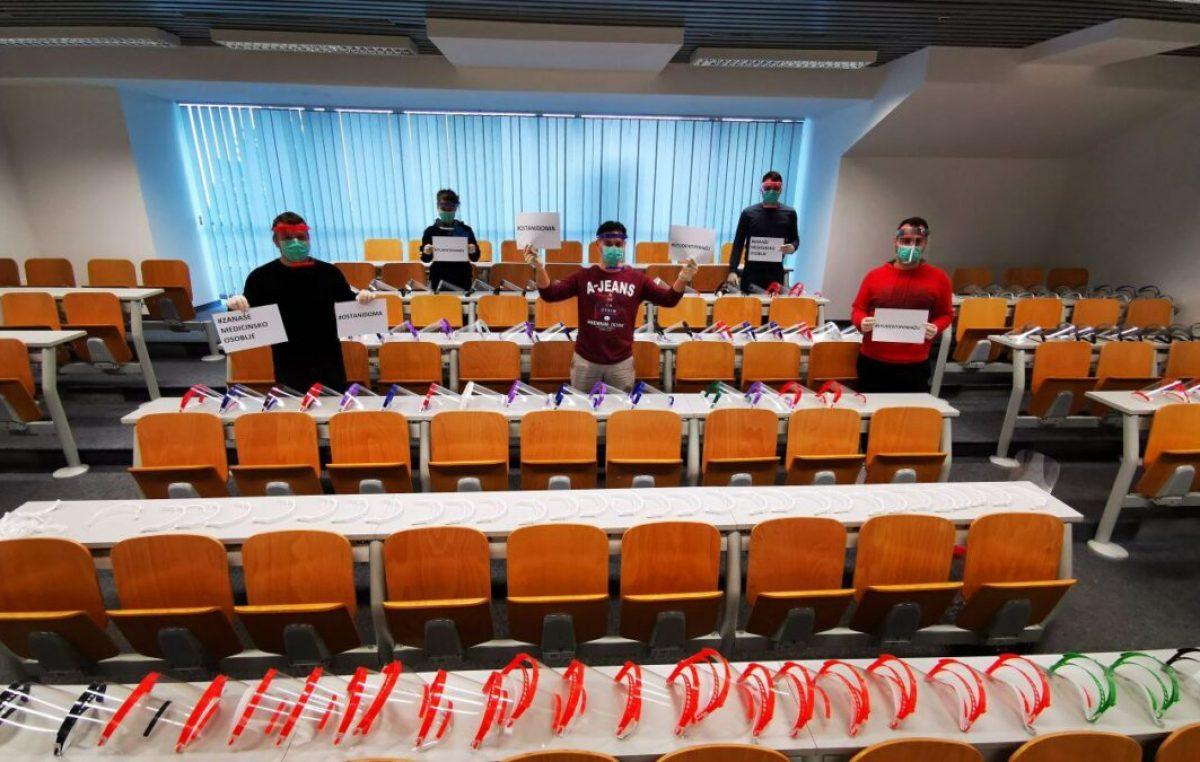 Studenti pomažu: Riječki Studentski zbor uključen u nacionalnu akciju izrade vizira za medicinske djelatnike
