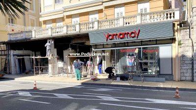 Nastavljeni radovi na sushi baru u centru Grada – Investitor opomenut jer je radio bez dozvole Grada Opatije
