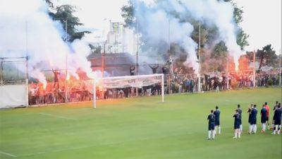 VIDEO Armada navijanjem i bakljama podržala bijele uoči nastavka sezone