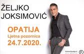 Odgođen nastup Željka Joksimovića u Opatiji