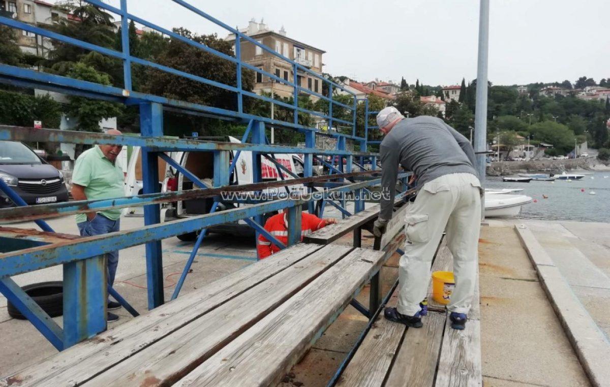 U OKU KAMERE Volonterskim radom do obnovljenih tribina na vaterpolo platou @ Volosko