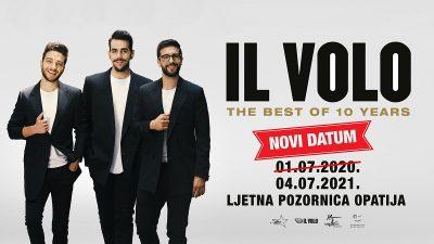 Koncert talijanskog opernog pop trija IL VOLO odgađa se 2021.