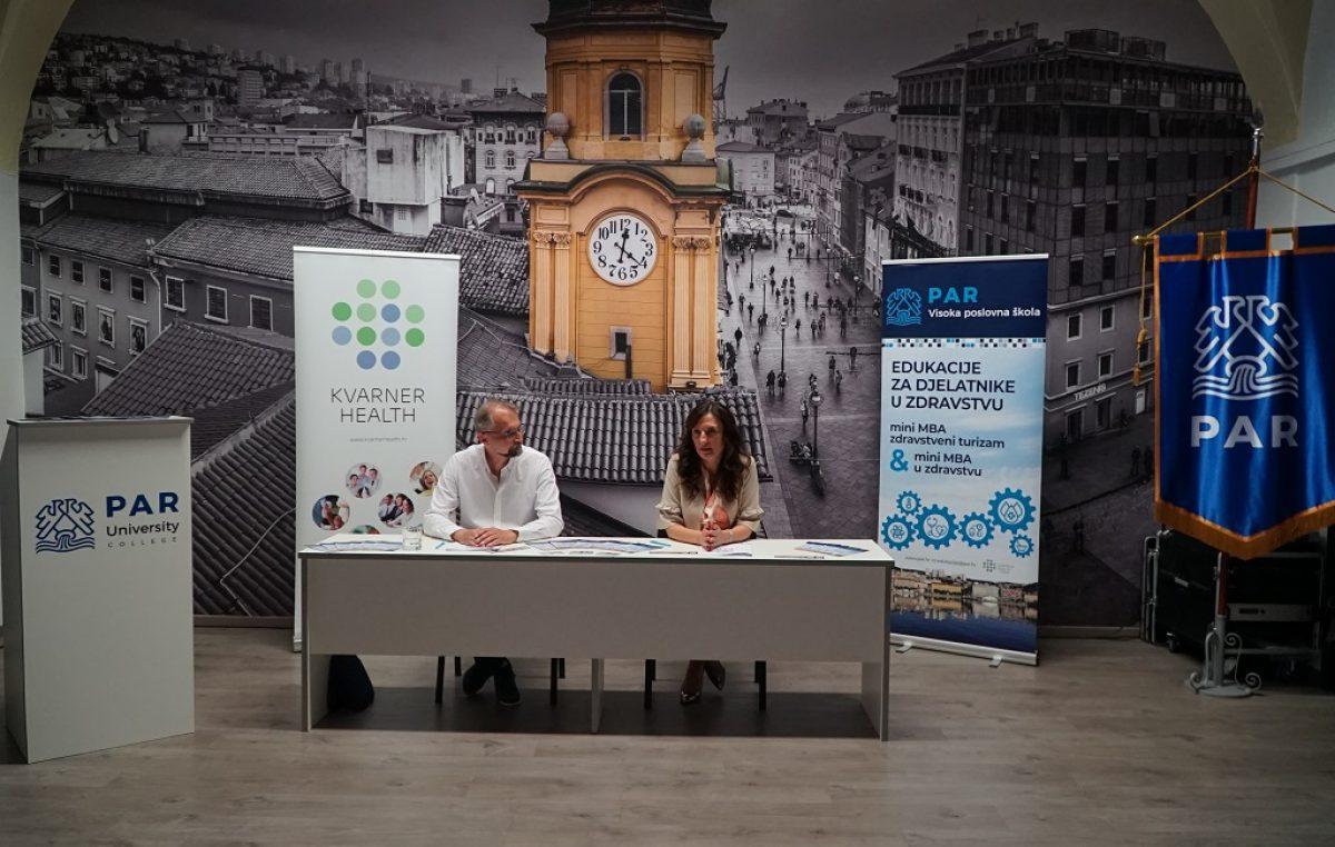 Potpisana suradnja između Klastera zdravstvenog turizma Kvarnera i Visoke poslovne škole PAR