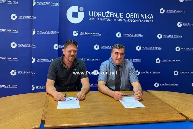 Potpisan Sporazum o poslovnoj suradnji između Veleučilišta u Rijeci i Udruženja obrtnika Opatija, Matulji, Lovran i Mošćenička Draga
