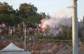 VIDEO/FOTO Nogometaši Rijeke 'poklonili' se navijačima koji su ih s obližnjeg brda bodrili do pobjede