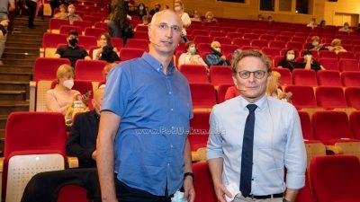 FOTO Znanstvenici, opušteno… Ivan Đikić i Ivica Puljak održali zanimljiva predavanja