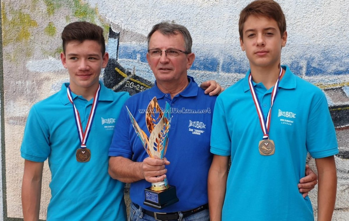 FOTO Mladi lovranski ribolovci Luko Pavičević i Patrik Uhač brončani na Prvenstvu Hrvatske @ Vir
