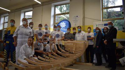 VIDEO/FOTO U Tehničkoj školi položena kobilica pasare koja će se graditi u sklopu Akademije tradicijskih pomorskih zanata i vještina
