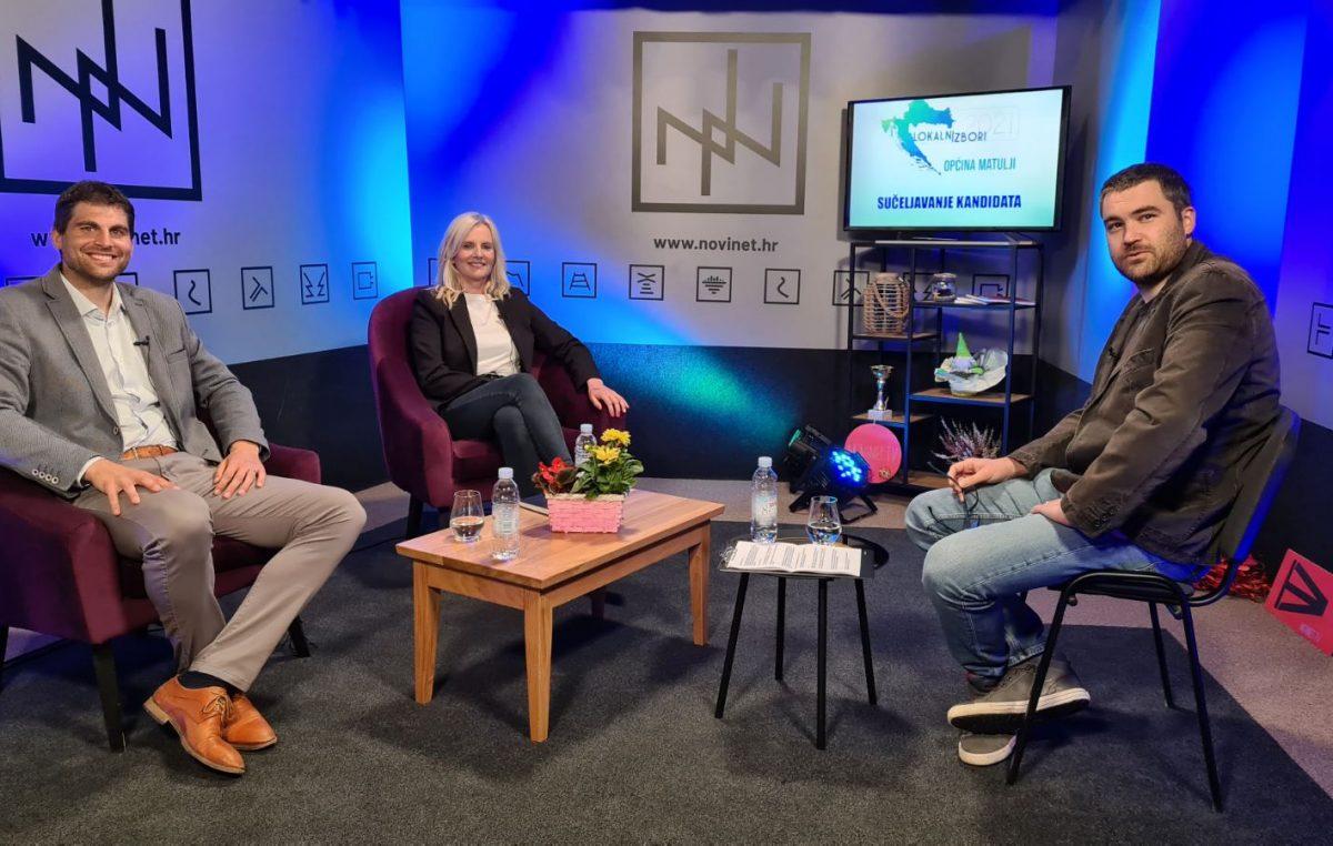 [LOKALNI IZBORI] Večeras pratite video-sučeljavanje kandidata za načelnika Matulja Vedrana Kinkele i Eni Šebalj