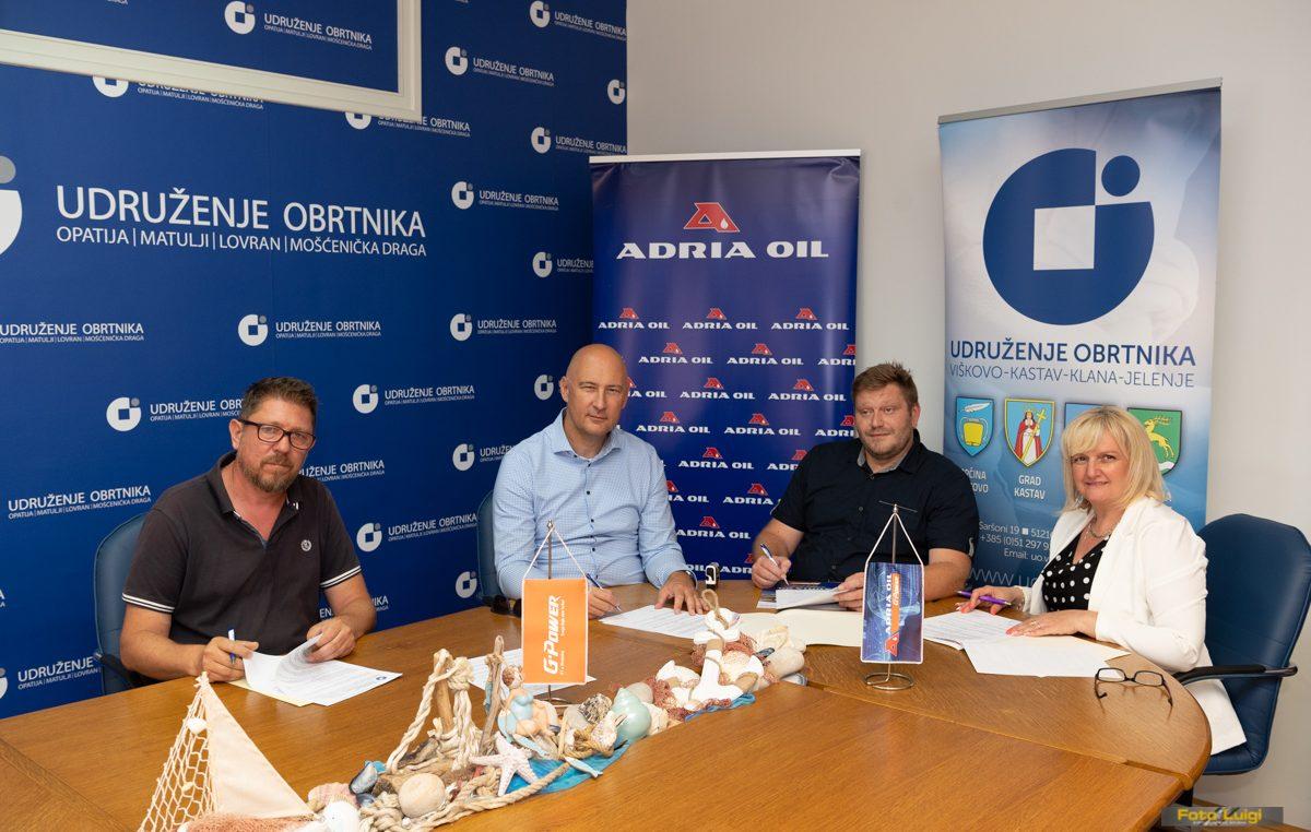 Obrtnicima Opatije i Viškova povoljniji uvjeti poslovanja s tvrtkom Adria oil