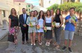 [U OKU KAMERE] Općinski načelnik održao prijem učenika odlikaša, Fania Pilčić učenica generacije