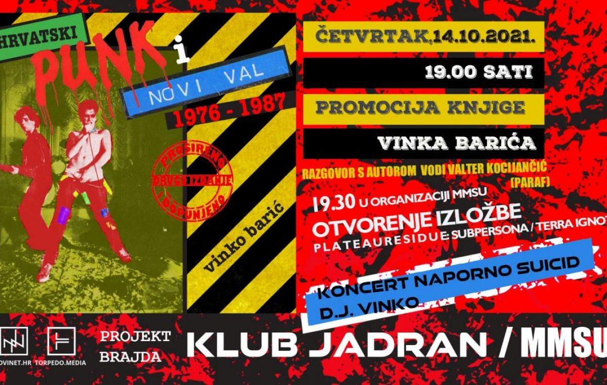 """Ovog četvrtka promocija knjige """"Hrvatski punk i novi val 1976-1987"""" Vinka Barića"""