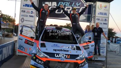 22. INA Rally Poreč 2021.: Pobjednički šampanjac Slovenaca Turk-Ošlaj