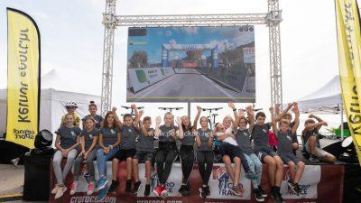 """[FOTO] Virtualna utrka Kids Cro Race kao uvertira za finiš 5. etape međunarodne biciklističke utrke """"Cro Race"""""""